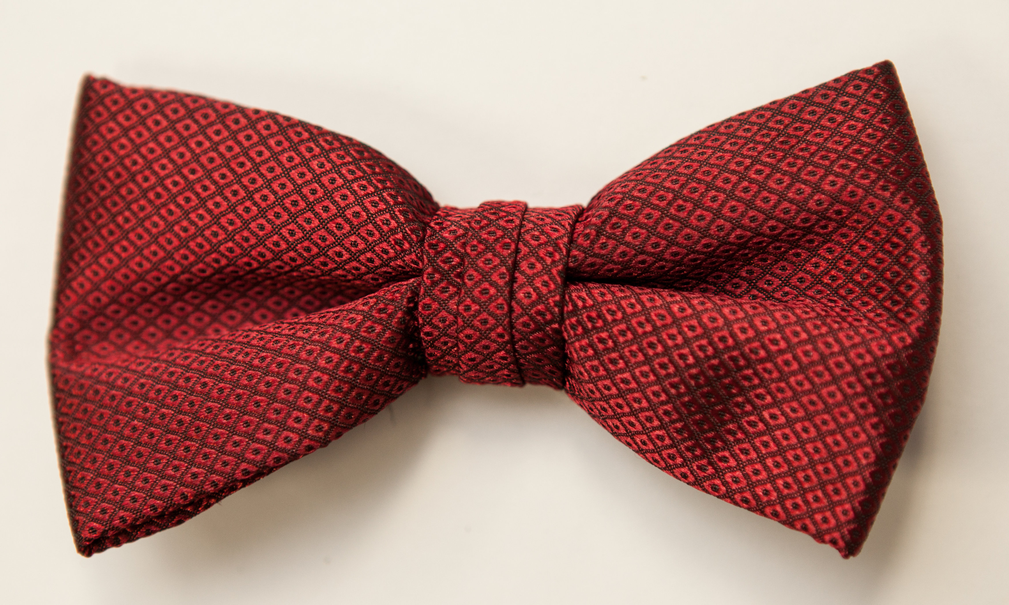 Apple red port  P 15172 Red Dot Bow Tiejpg