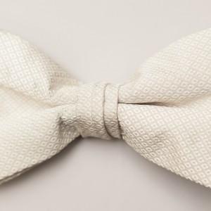 Portofino Diamond White Bow Tie