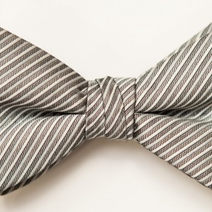 Synergy Bali Silver Bow Tie