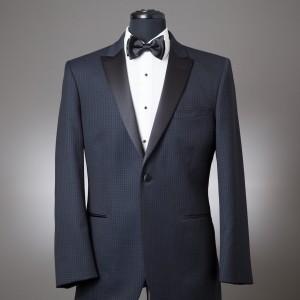 Navy Check Julian Coat