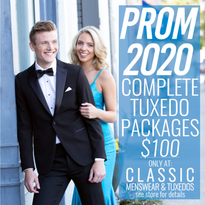 2020 Prom COVID-19 special rate $100 in-stock rental outfit complete